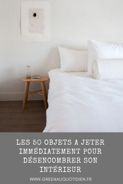 désencombrer son intérieur minimalisme chambre lit blanc